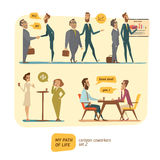 Business persons in deals Stock Photos