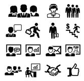 Business persons icons Stock Photo