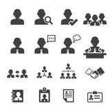 Business persons and users icon. Web icon symbol design illustrator Royalty Free Stock Photos