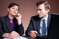 Business phone call Stock Photo
