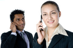 Business Phone Calls Royalty Free Stock Photography