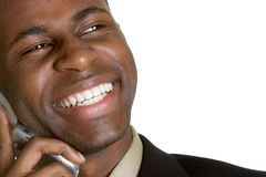 Business Phone Man Royalty Free Stock Image