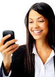 Business phone message Stock Photo