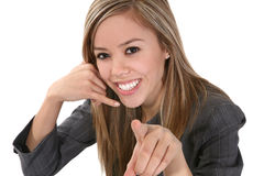 Business Phone Simulating Phone Call Stock Images