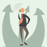 Business, phone, success. Vector arrow growth concept. kollosalny success in business royalty free illustration