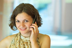Business phone talk Royalty Free Stock Image