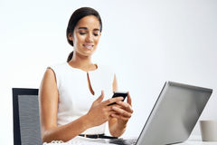 Business phone text Royalty Free Stock Photos