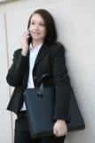 business phone woman 库存图片