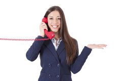 business phone woman Стоковое Изображение RF