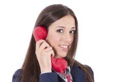 business phone woman Стоковое Фото