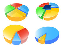 Business pie chart Stock Image