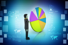 Business with pie chart Stock Images