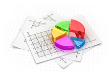 Business pie chart. This is a computer generated and 3d rendered image Royalty Free Stock Photo