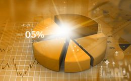 Business pie chart. 3d illustration Stock Photo