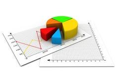 Business pie chart. 3d render of Business pie chart Stock Photos