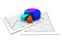 Business pie chart. 3d render of Business pie chart Royalty Free Stock Photo