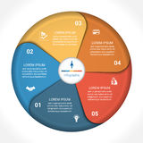 Business pie chart diagram data 5 Royalty Free Stock Image