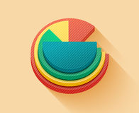 Business pie chart. For documents and reports for documents, reports, graph, infographic, business plan Royalty Free Stock Photos