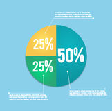Business pie chart. For documents and reports for documents, reports, graph, infographic, business plan Stock Photo