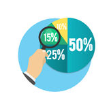 Business pie chart. For documents and reports for documents, reports, graph, infographic, business plan Stock Images
