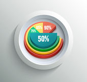 Business pie chart. For documents and reports for documents, reports, graph, infographic, business plan Stock Image