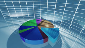 Business pie chart for economic concept. A 3D rendered image of stock market pie charts. A business background what can be used for business and economy Stock Photo