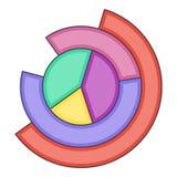 Business pie chart icon, cartoon style Stock Photos