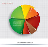Business pie chart Paper Info graphics. Stock Image