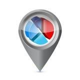 Business pie chart success pointer locator Stock Photo
