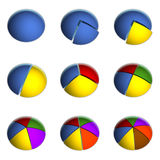 Business Pie Charts. 3D Bitmap Illustrations of Business Pie Charts Royalty Free Stock Photo