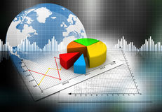 Business pie  graph Royalty Free Stock Image