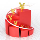 Business pie graph bar stock illustration