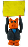 Business pig hand up with sign Stock Photography