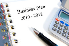Business plan. Business and strategic planning towards 2012 Stock Photos
