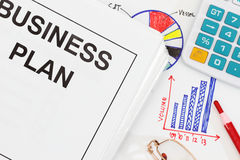 Business plan. Abstract - many uses in finance and management Stock Images