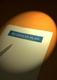 Business plan 2. Image of a business plan under the spotlight stock photos
