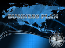 Business plan. Abstract background with world map Stock Image