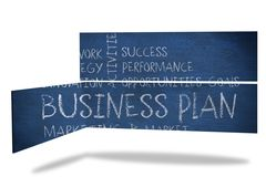 Business plan on abstract screen Royalty Free Stock Images