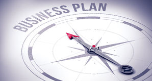 Business plan against compass Stock Images