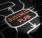 Business Plan Arrows Means Goals And Strategies For Company Stock Photo