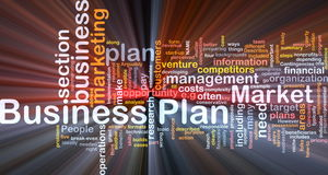 Business plan background concept glowing Stock Images