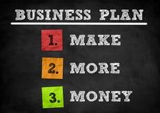 Business Plan. Blackboard concept illustration Royalty Free Stock Images