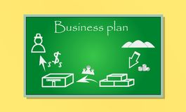 Business plan, on the board Stock Photography