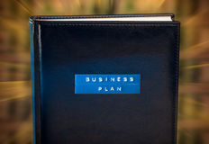 Business plan book Royalty Free Stock Image