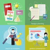 Business plan, budget planning, search investors Stock Photo
