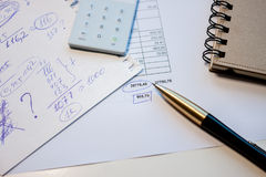 Business plan calculation Stock Photo