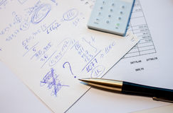 Business plan calculation Stock Photography