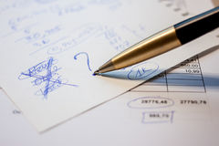 Business plan calculation Royalty Free Stock Image