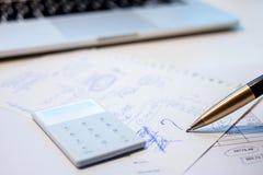 Business plan calculation Stock Photos