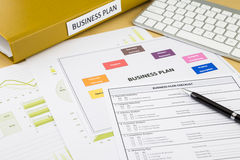 Business plan checklist and documents Stock Images